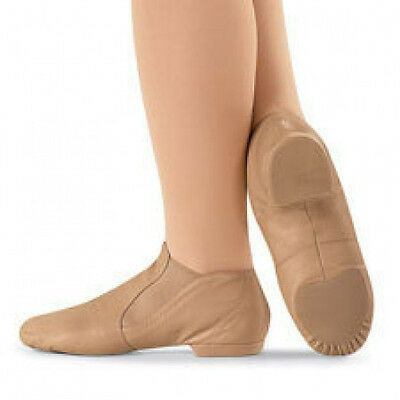 Capezio CG05 Adult 4M (Fits Child 13.5) Suntan Slip On Jazz Boot (USA Design)