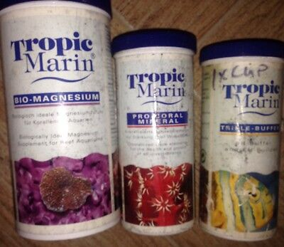 3x MARINE SUPPLEMENTS TROPIC MARIN TRIPLE BUFFER PRO CORAL MINERAL BIO MAGNESIUM