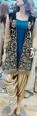 Indian Pakistani Shalwar Kameez Jacket Style Wedding Partywear Khuda Baksh Origi
