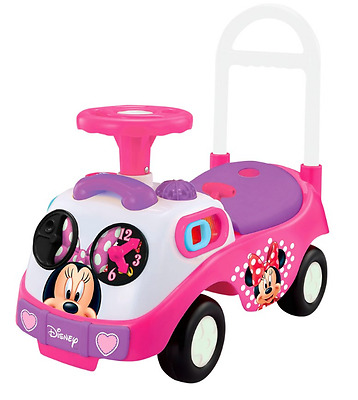 Girls Ride On Disney My First Minnie Mouse Pink Kids Toy Car Push Along Bike NEW