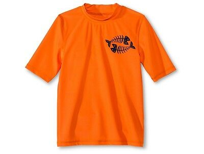 Cherokee Boys' Fish Bones Rashguard Orange Flash L