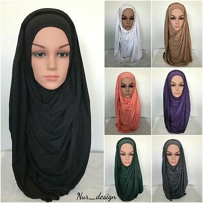 MAXI COTTON JERSEY Scarf Wrap  Muslim Head &Chest cover Unstitched 190 x 85 cm