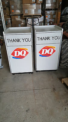 Dairy Queen Trash Can And Tray Holder  With Roll Out Liner