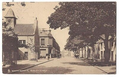 NORTH BERWICK Quality Street, Old Postcard by Tuck Postally Used 1909