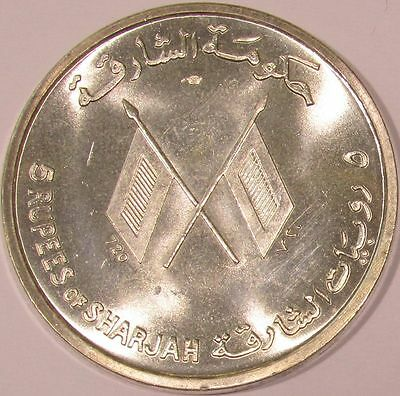 1964 Sharjah Silver 5 Rupees - John F. Kennedy Fantasy Coin - KM#1 - Most Melted