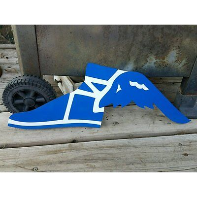 Blue Goodyear Tires Porcelain Embossed Metal Sign Service Station Blue/white