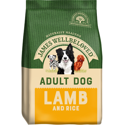 James Wellbeloved Adult Lamb & Rice Hypoallergenic Gluten Free Dog Food 15kg