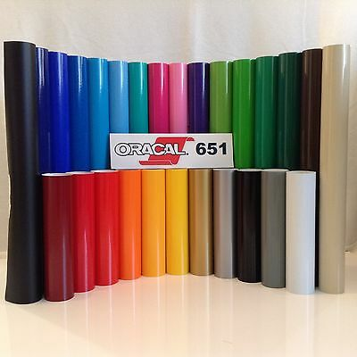 "12"" Oracal 651 Adhesive Vinyl (Craft hobby/sign) 10 Rolls@ 5' Ea."