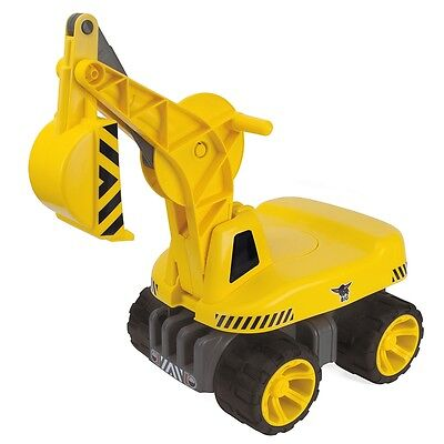 Big Power Worker Maxi Digger Push Along Ride On, Kids Interactive Garden Toy