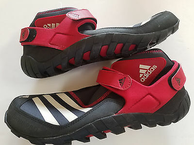 New Adidas Outdoor Jawpaw Pro Watersports Shoes Kayakers Men 9 EQT Black & Red