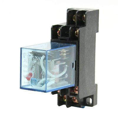 220V/240VAC Coil 8 Pin DPDT General Purpose Power Relay w Socket