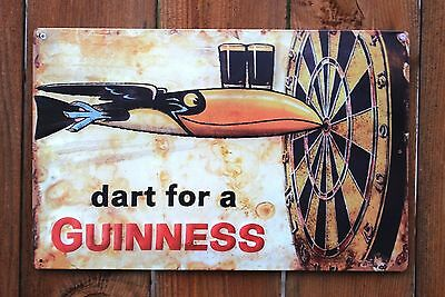 "Guinness - Dart Metal Beer Sign (17""x11"")"