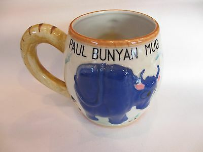 Vintage Antique 1955 Lefton  Babe The Blue Ox And Paul Bunyon Coffee Cup Or Mug