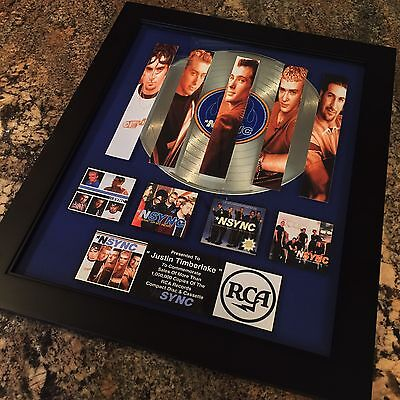 Nsync Justin Timberlake Platinum Record Album Disc Music Award MTV Grammy RIAA