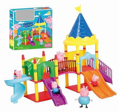 Peppa Pig Playground Children's Slide Play Set With Figures Kid Toy Boy Girls