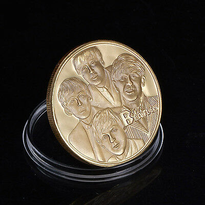 New The Beatles Gold Commemorative Collectors Coins