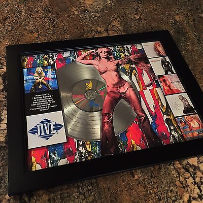 Britney Spears Platinum Record Album Disc Music Award MTV Grammy Madonna RIAA