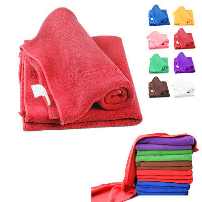 1/2Pcs Multicolor Soft Microfiber Car Kitchen Cleaning Wash Cloth Hand Towel