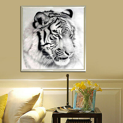 5D DIY Diamond Painting Tiger Animal Cross Stitch Embroidery Home Decor Craft