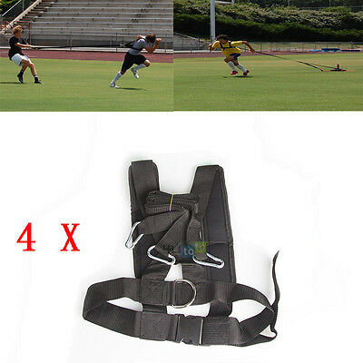 4x Shoulder Resistance Harness Power Sled Harness Belt Fitness Strength Training