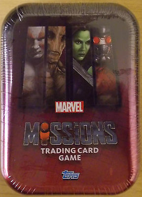 Marvel Missions ~ Topps Trading Card Collection ~ Collectors Mini Tin Inc Ltd Ed