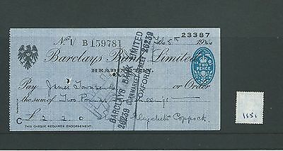 wbc. - CHEQUE - CH1151- USED -1946 - BARCLAYS BANK, HEADINGTON, OXFORD