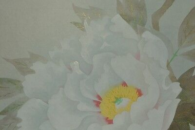 Hanging Scroll Japanese Painting Peony Japan Picture Antique Fine Art ink y85