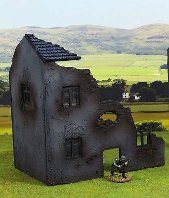 WWG 28mm World War 2, WWII, Normandy Half Ruined Farm House R17