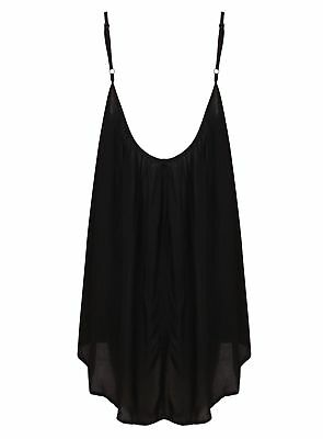 Ladies Top Strappy Loose Black Big Blouse Vest Summer New Womens Baggy Straps