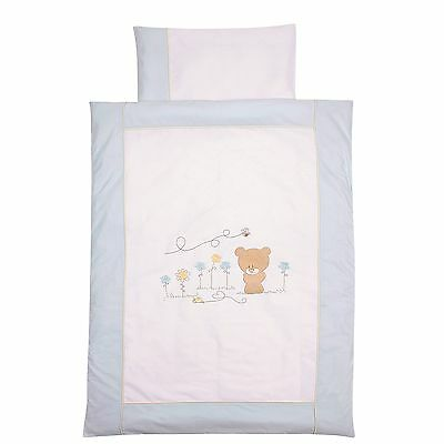 Easy-Baby Bettwäsche 80x80 / 35x40 cm  Honey bear blue 415-41 TOP