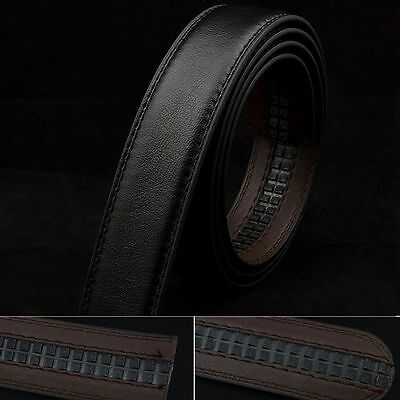New Black Leather Mens No-Automatic Buckle Style Dress Strap Waist Belts
