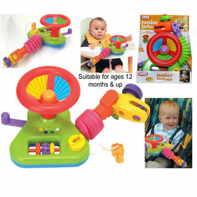 JUNIOR DRIVER CAR Steering Wheel Activity Toy Buggy Stroller Baby GIFT 12 Month+