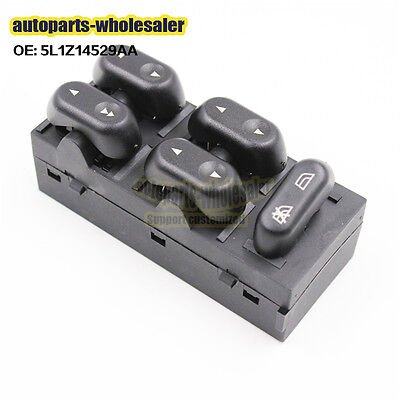 New 5L1Z14529AA Front LH Driver side Power Window Master Switch For Ford F150