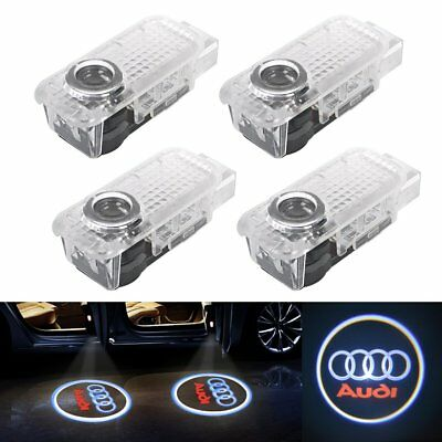 4X LED Car Door AUDI Logo Laser Step Ghost Shadow Welcome Projector Lights Q7 TT