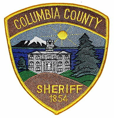 COLUMBIA COUNTY OREGON OR Sheriff Police Patch CITY HALL COUNTY COURTHOUSE MOUNT