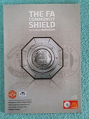 2013 - COMMUNITY SHIELD PROGRAMME - MANCHESTER UTD v WIGAN ATHLETIC