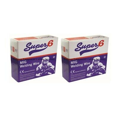 2 x Gasless Mig Welding Wire 0.8mm 0.45 kg Shrouds, Tips, Flux Core Wire Cored