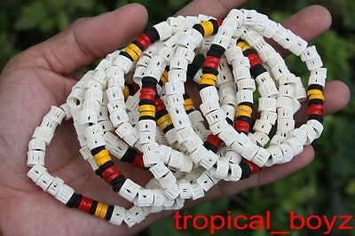 10 Aboriginal Shark Cartilage Wood Beads Stretchy Bracelets Wholesale Lot