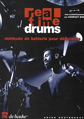 Partition+CD pour batterie Arjen Oosterhout - Real Time Drums