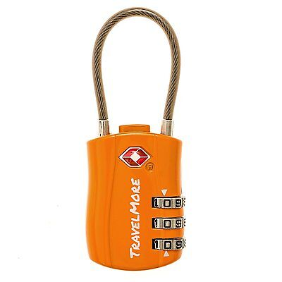 TSA Approved Travel Combination Cable Luggage Locks for Suitcases & Backpacks -
