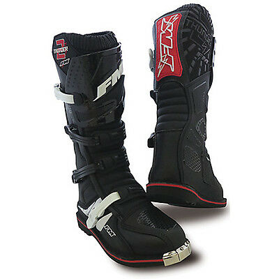 Stivali Moto Cross Enduro Thunder 2 En Nero Fm Racing Size 41
