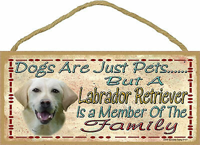 Labrador Retriever Is a Member Of The Family Wood Yellow Lab Blackwater Dog Sign