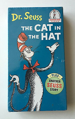 New Dr. Seuss The Cat in the Hat Plus Additional Story Beginner Book VHS Sealed