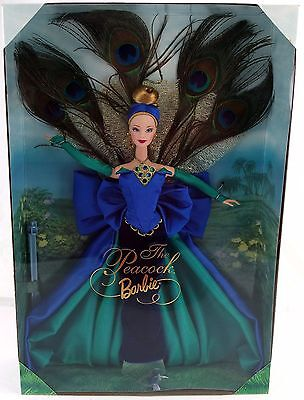 Mattel Barbie The Peacock Doll Birds of Beauty Collection Blonde 1998 NEW