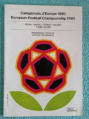 1980 - Official Euro 1980 Tournament Programme