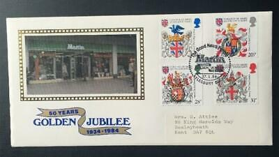 "G.B FDC ""Heraldry"" Official Martins ""The Good News People (Scarce Cover) CAT £90"