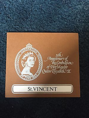 Folder Of St. Vincent 5 MMH Stamp Sheets 25th Anniversary Of The Coronation