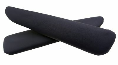 Door Panel Armrest Leather Synthetic Cover for BMW E46 99-04 Black