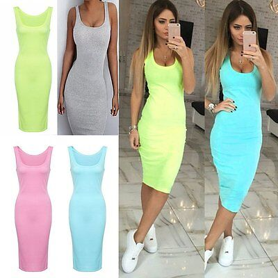 Women Casual Summer Bandage Mini Dress Cocktail Party Evening Bodycon Sleeveless