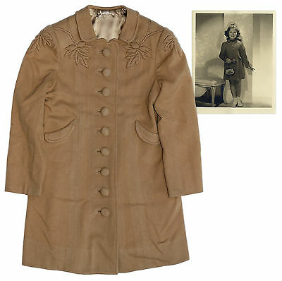 Shirley Temple Worn Coat From Little Miss Broadway